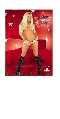 ASHTON MOORE ~ UNZIPPING 22x34 PINUP POSTER Club Jenna NEW/ROLLED!
