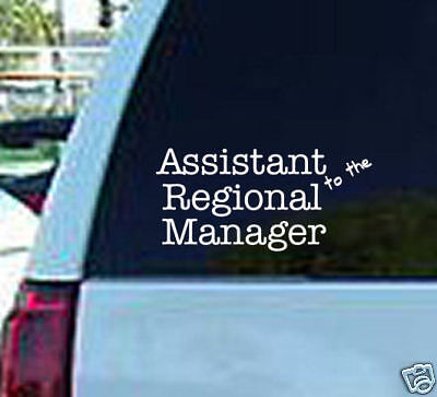 The office regional manager decal vinyl sticker logo tv