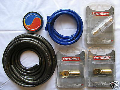 **** STREETWIRES 4 GA 4 GAUGE HIGH-END AMP KIT 100% OFC