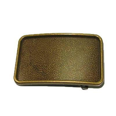 Ranchero Buckle Blank Antique Brass