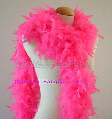 Hot Pink 65 Grams Chandelle Feather Boa   Dance Party Halloween Costume