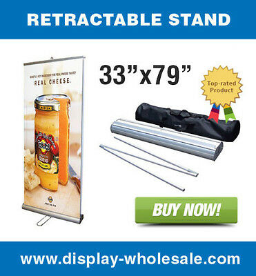 """Double-sided 33"""" Retractable Banner Stand"""