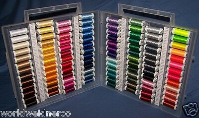 Sulky Slimline Box+104 Spools of Embroidery Thread!POLY
