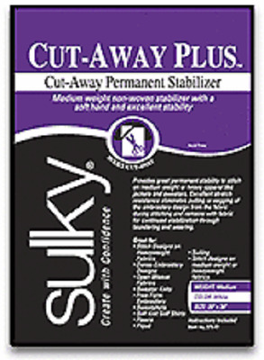 "SULKY CUT AWAY PLUS EMBROIDERY STABILIZER! 20""x25YDS!"