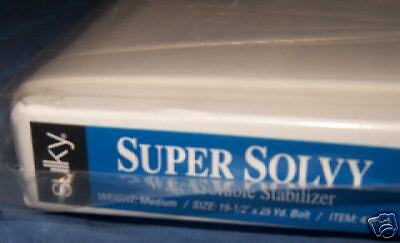 """SULKY SUPER SOLVY EMBROIDERY STABILIZER! 20""""x1yd Sheet"""