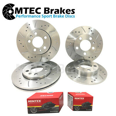 MERIVA   280MM Drilled /& Grooved Sports FRONT Brake Discs VAUXHALL COMBO
