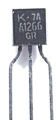 2SA1266  Marked A1266  Low noise epitaxial planar transistor. TO-92