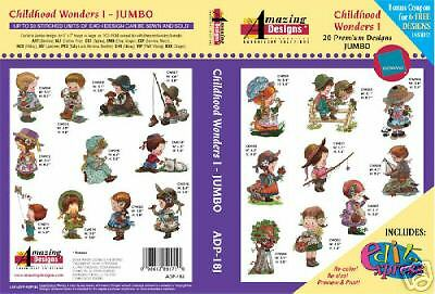 Amazing Designs Embroidery CD-Childhood Wonders 1 +GIFT
