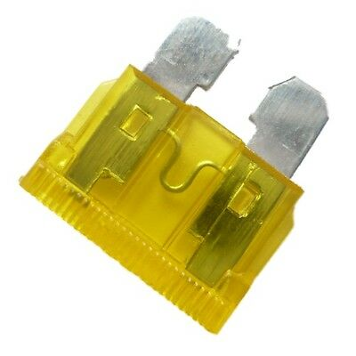 20A (YELLOW) - 20 x STANDARD (ATO) Blade Type Fuses Car, Motorcycle, Automotive