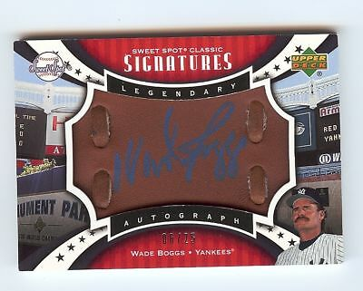Yankees Wade Boggs 2007 Sweet Spot Classic Signatures Glove Autograph Auto 06/25