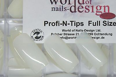 Easy ♦100 Profi N Tips ♦ in Box ♦ Gr. 1-10 ♦ Full-Size / Full Cover Nails Natur