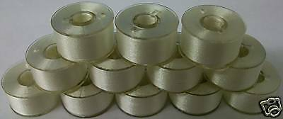 """100 """"A"""" PLASTIC SIDED EMBROIDERY BOBBINS Brother SA156"""