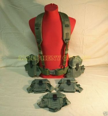US Army M PISTOL Belt /Suspender (5) Ammo Pouch LOT VG
