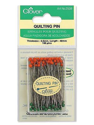 Clover Quilting Pins (100 Pins) 0.6mm x 48mm