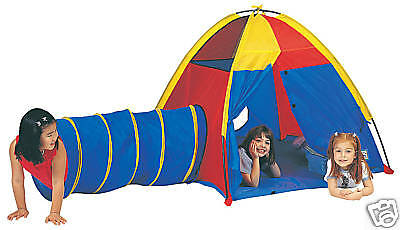 Pacific Play Tents Primary Hide Me Tent and Tunnel Set