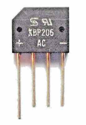KBP206 G   Diode Rectifier Bridge Single 600V 2A 4-Pin