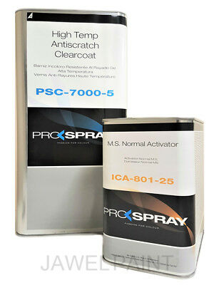 Clear Lacquer HS 2k Pro-Spray 7000  with standard 2k air dry hardener 7.5lt kit