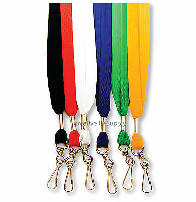 Lanyard - 5 Pcs Flat Neck Strap Lanyard For Id Badges