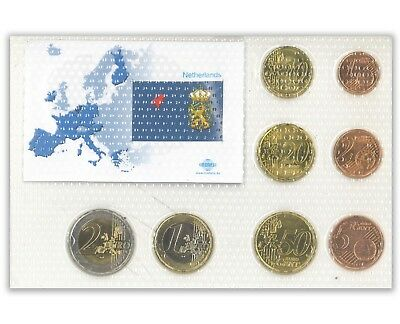 Netherlands Euro Coin Set -8 Coins Mint Unc-Sealed