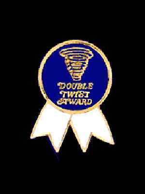 Double Twist Award Gymnastics Lapel Pin - WHIRLING DERVISH