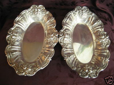 Pair Reed & Barton Francis I Sterling Silver Oval Bowls