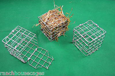 Pack 3 Small Hay Cube Feeders Chinchilla Degu Guinea Pig Cage