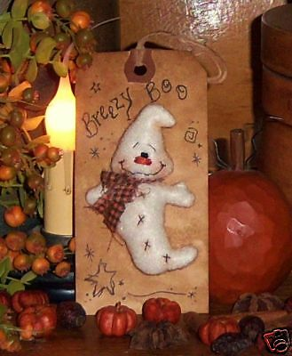Primitive Ghost Pin Halloween Ornie Doll Paper Pattern #519