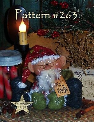 Primitive Patti/'s Ratties Original Raggedy Believe Santa Doll Paper Pattern #202