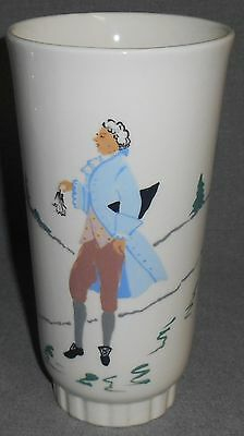 West Coast Pottery HAND PAINTED Colonial Man VASE California