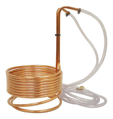 """NY Brew Supply 25' Copper Wort Chiller 3/8"""" - High Quality Immersion Chiller"""