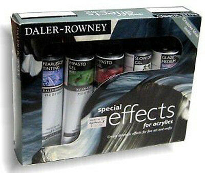 Daler Rowney Acrylic - Special Effects Mediums Set - 5 x 75ml Tubes