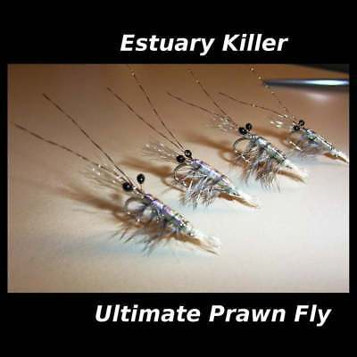 4 PRAWNS  #6, 8, 12  for fly fishing rods reels & lines