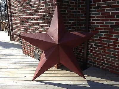 44''Rusted*Metal*Star*Barn*Old*Roof*Rusty*Sign*Red*