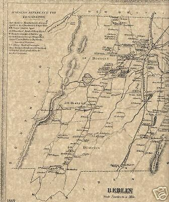 Kensington CT 1869  Map with Homeowners