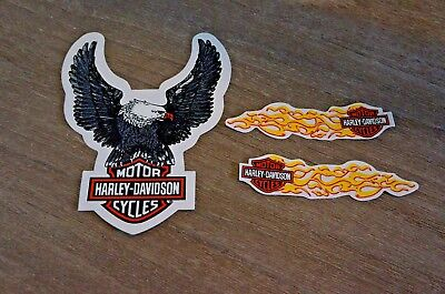 Harley Davidson Silver Eagle Window Decal Sticker Outside Application Clear Back