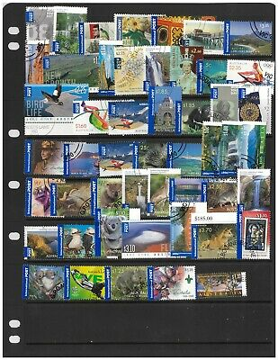 50 Australian International Post Stamps All Different Used Off Paper