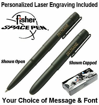 Personalized Fisher Space Pen #400BWCBCL - Matte Black X-Mark / Gift Boxed