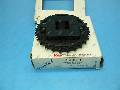 "Rexnord 614-191-1 NS8500 Split Table Top Chain Sprocket 1-1/2"" Bore 25T 6.09"" OD"