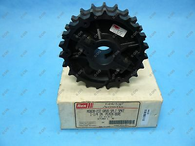 "Rexnord 614-39-12 NS820 Split Table Top Chain Sprocket 1-1/4"" Bore 23T 5.59"" OD"