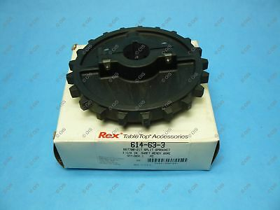 "Rexnord 614-63-3 NS7700 Split Table Top Chain Sprocket 1-1/4"" Bore 21T 6.72"" OD"