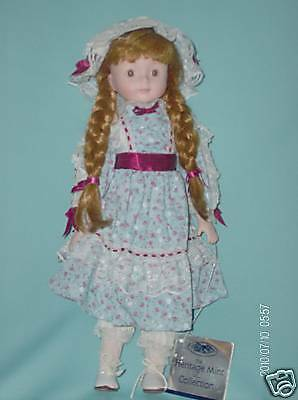 Porcelain Doll 16 Inch Heritage Mint Collection No40019