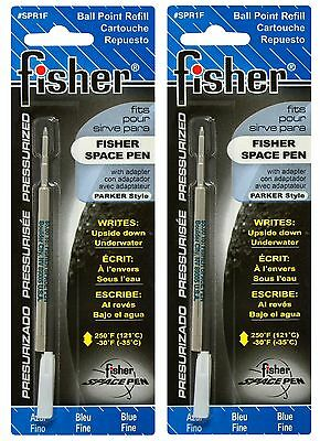 TWO Fisher SPR Series Blue Ink / Fine Point Refills #SPR1F