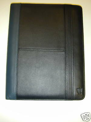 Leather Conference Folder, Rover Branded, Bnib (Rvm21)
