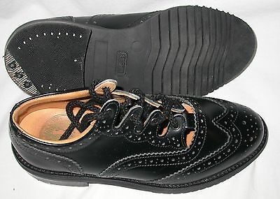 New Gaelic Themes Piper Brogues Shoes Black Leather various sizes