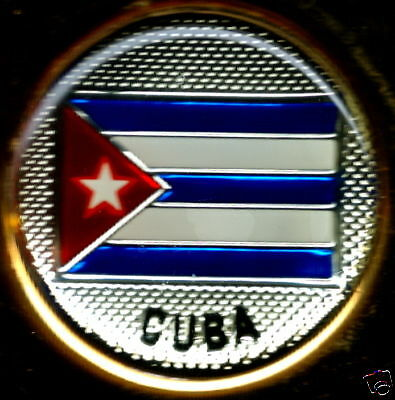 República de Cuba Flag Solid Brass Key Chain s NEW