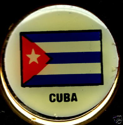 República de Cuba Flag Solid Brass Key Chain f NEW