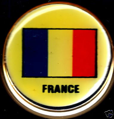 France, French Republic Flag Solid Brass Key Chain NEW