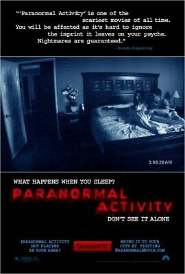 PARANORMAL ACTIVITY - Original Promo Movie Poster MINT