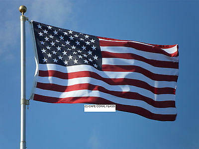 3' X 5' American / U.s.a. Us  Flag Solid Brass Grommets
