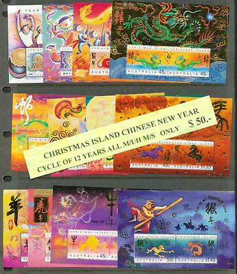 Christmas Island Chinese Lunar Year 12 Mini Sheets